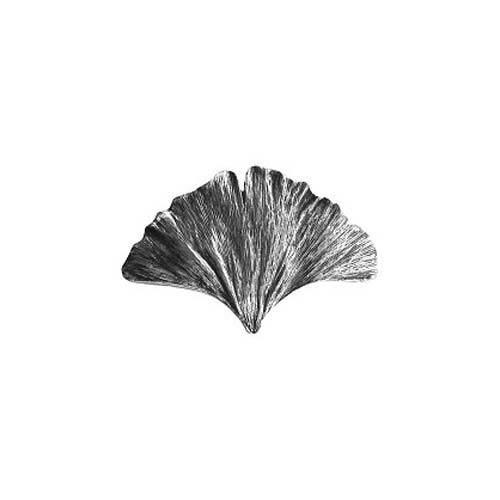 Brite Nickel Gingko Leaf Knob