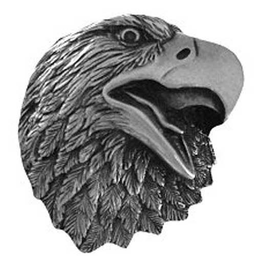 Brilliant Pewter Proud Eagle Knob
