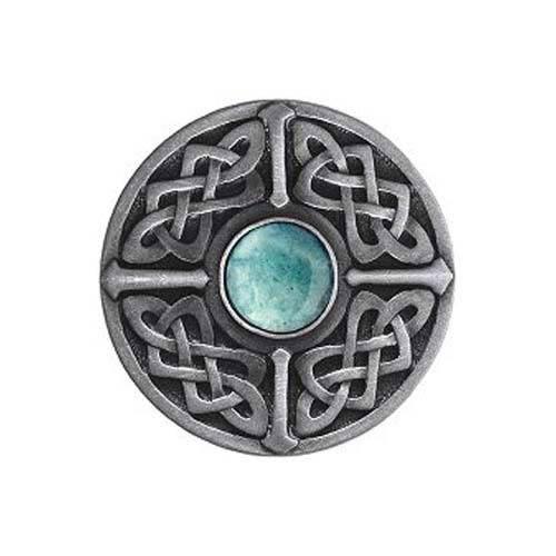 Pewter Green Aventurine Celtic Jewel Knob