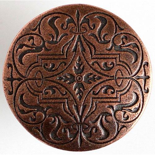 Notting Hill Decorative Hardware Antique Copper Renaissance Etch Knob