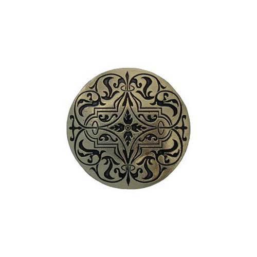 Brite Brass Renaissance Etched Knob
