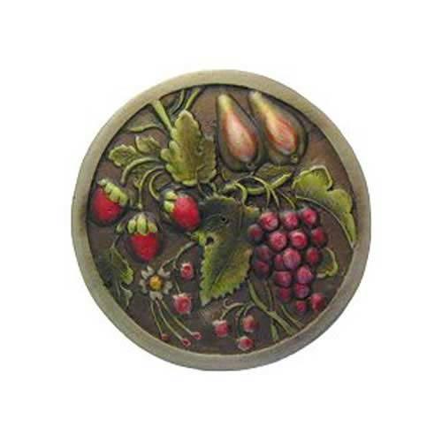 Notting Hill Decorative Hardware Hand Tinted Brass Tuscan Bounty Knob