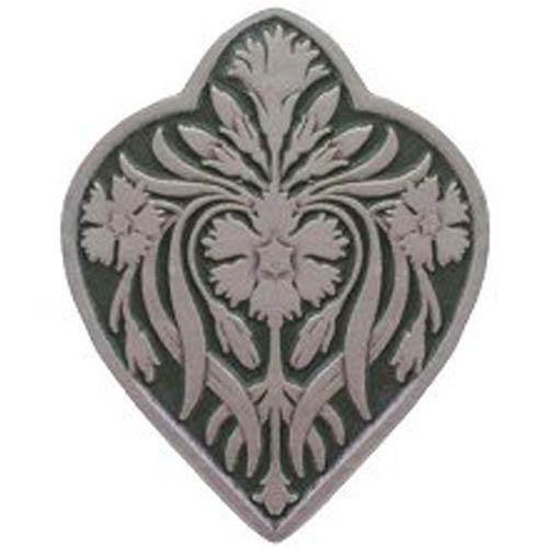 Antique Pewter and Sage Dianthus Knob