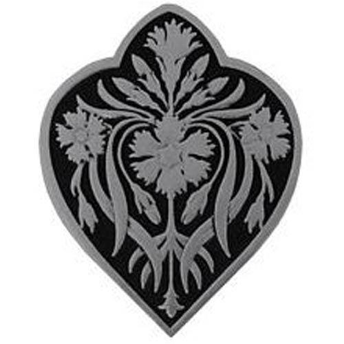 Brilliant Pewter and Black Dianthus Knob