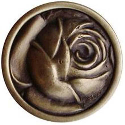 Antique Brass McKenna's Rose Knob