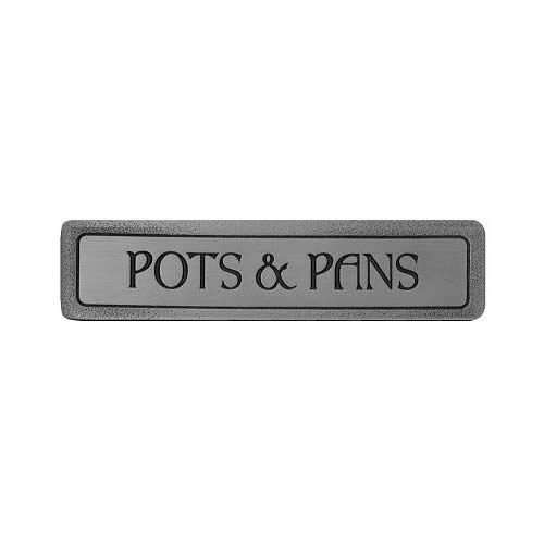 Antique Pewter 'Pots and Pans' Pull