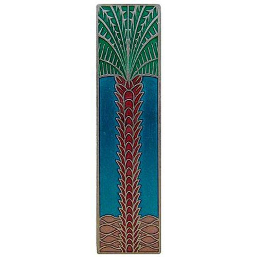 Brilliant Pewter with Turquoise Royal Palm Vertical Pull