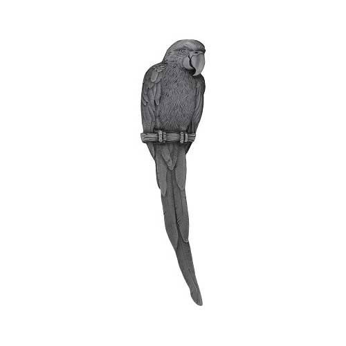 Antique Pewter Parrot Pull-Left