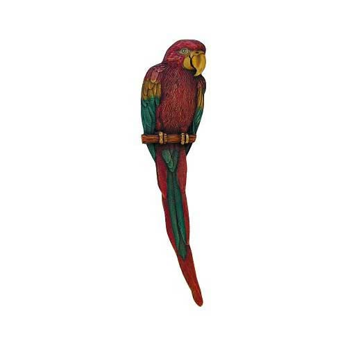 Hand Tinted Brass Parrot Pull-Left