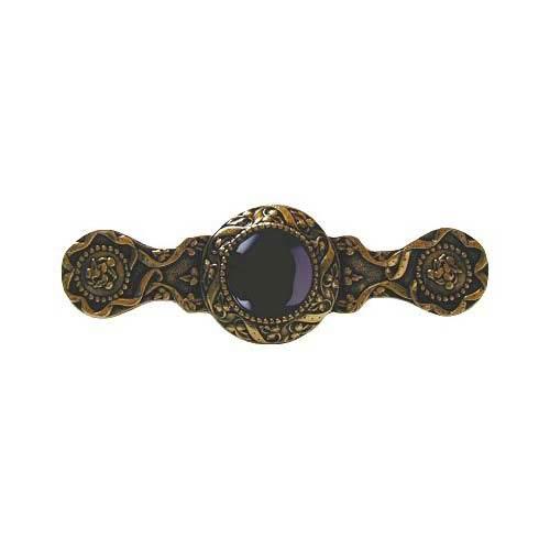 24 K Gold Victorian Jewel Onyx Pull