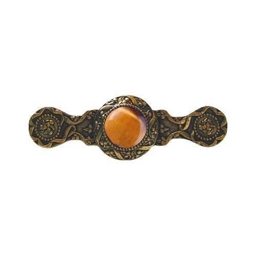 24 K Gold Victorian Jewel Tiger Eye Pull
