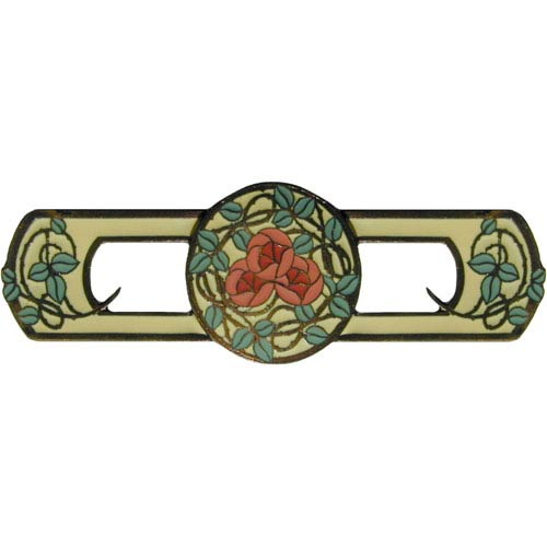 Notting Hill Decorative Hardware Dark Brass/Yellow Delaneys Rose Pull