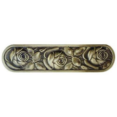 Notting Hill Decorative Hardware Antique Brass McKenna's Rose Pull
