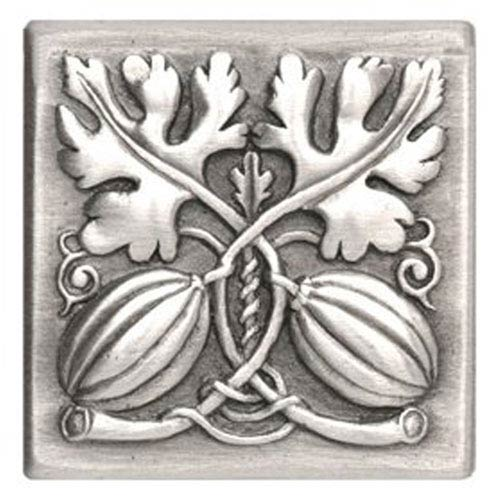 Notting Hill Decorative Hardware Antique Pewter Autumn Squash Tile