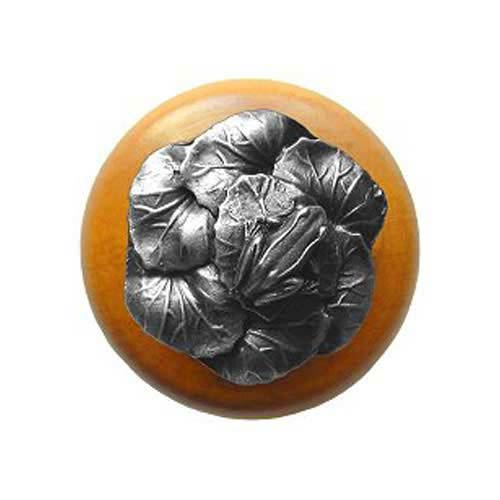 Maple Leap Frog Knob with Antique Pewter