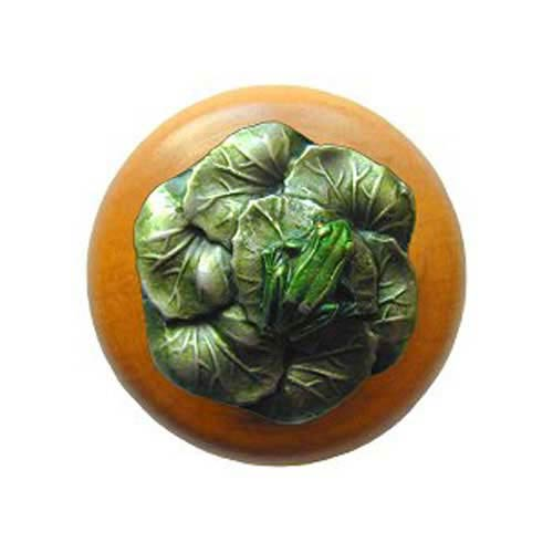 Maple Leap Frog Knob with Hand Tinted Pewter
