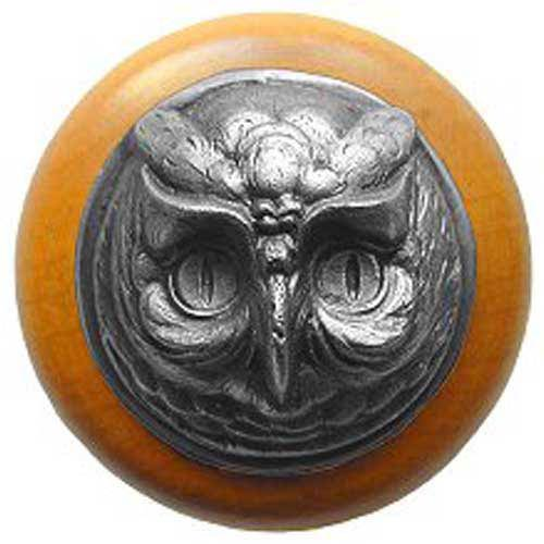 Maple Wise Owl with Antique Pewter
