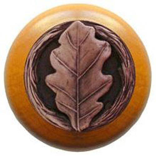 Maple with Antique Copper Oak Leaf Knob