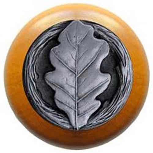 Maple with Antique Pewter Oak Leaf Knob