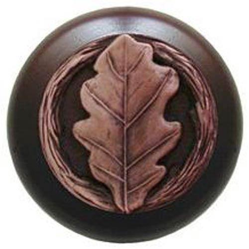Dark Walnut with Antique Copper Oak Leaf Knob