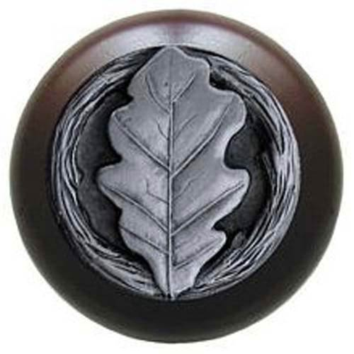 Dark Walnut with Antique Pewter Oak Leaf Knob