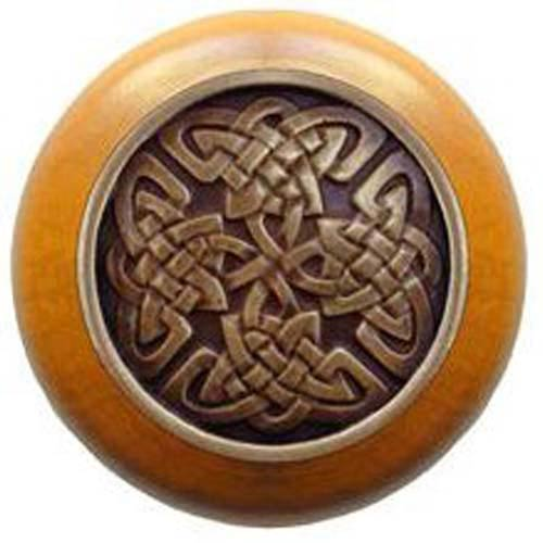 Maple with Antique Brass Celtic Isles Knob