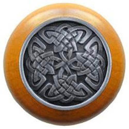 Maple with Antique Pewter Celtic Isles Knob