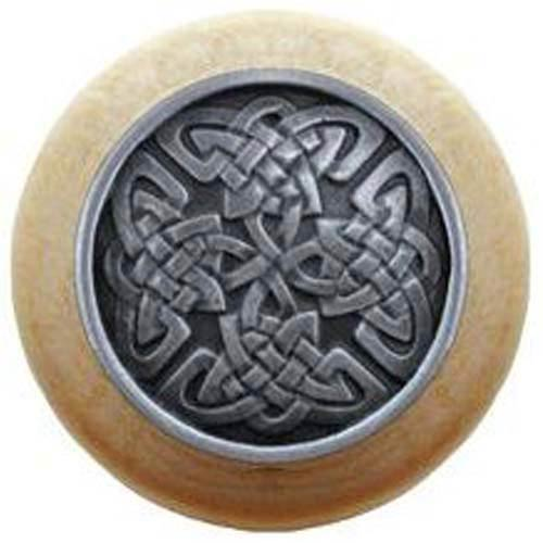 Natural Wood with Antique Pewter Celtic Isles Knob