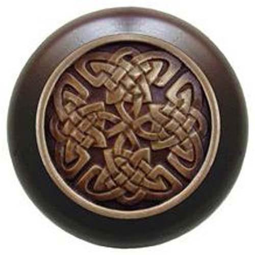 Dark Walnut with Antique Brass Celtic Isles Knob