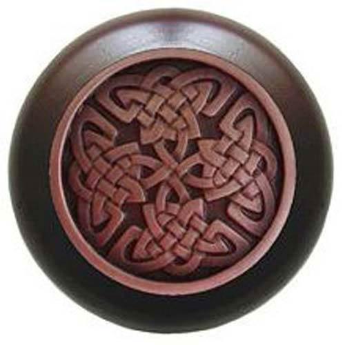 Dark Walnut with Antique Copper Celtic Isles Knob