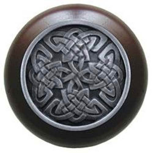 Dark Walnut with Antique Pewter Celtic Isles Knob
