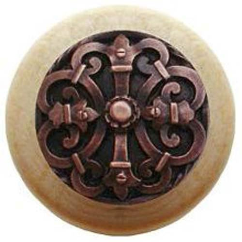 Natural Wood with Antique Copper Chateau Knob