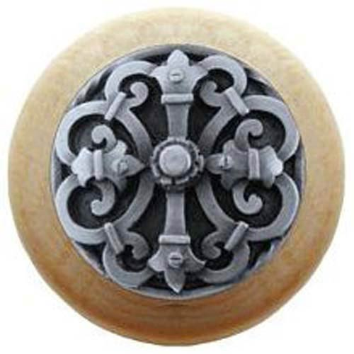 Natural Wood with Antique Pewter Chateau Knob