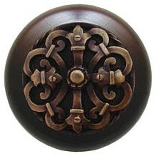 Dark Walnut with Antique Brass Chateau Knob