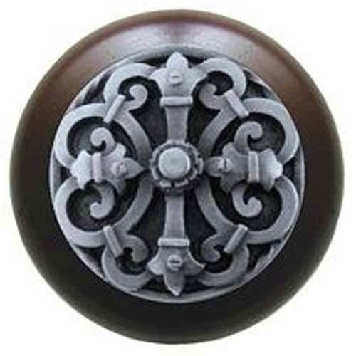 Dark Walnut with Antique Pewter Chateau Knob
