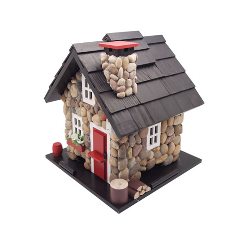 Cottage Charmer Series Stone/Red/Black Windy Ridge Feeder