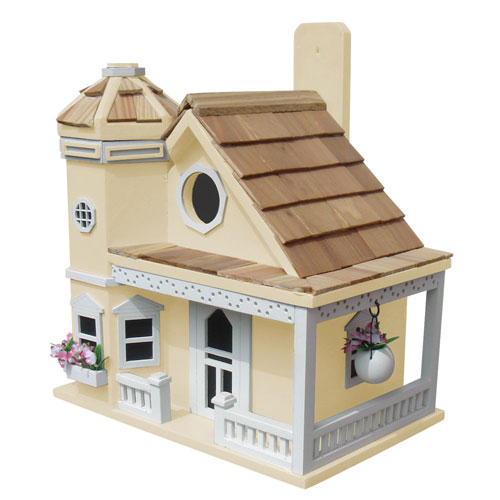 Fledgling Series Yellow Flower Pot Cottage Birdhouse