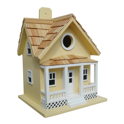 Fledgling Series Yellow Beachside Cottage Birdhouse