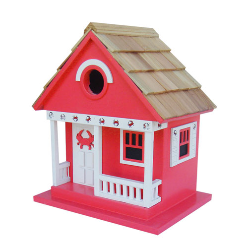 Beachcomber Cottage Collection Red Crab Cottage Birdhouse