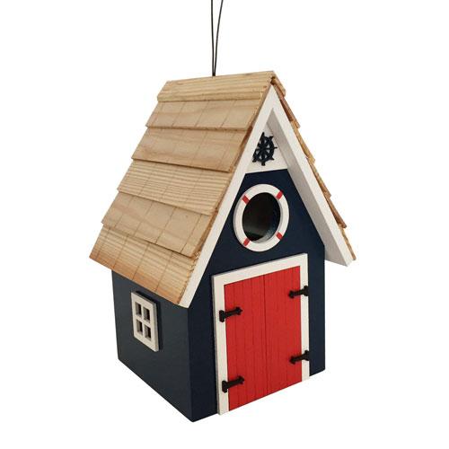 Dockside Cabin Birdhouse - Blue