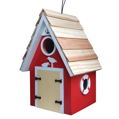 Dockside Cabin Birdhouse - Red