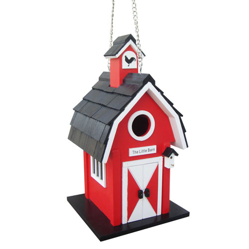 Nestling Series Red Barn Birdhouse