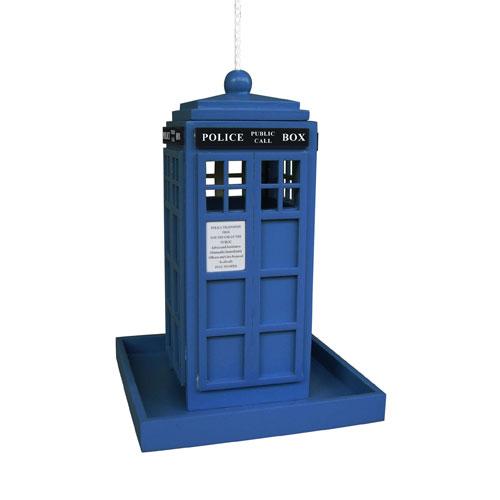 British Inspired Styles Blue Police Call Box Feeder