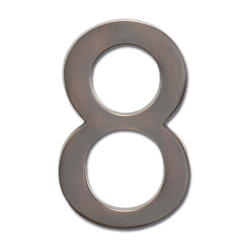 Architectural Mailboxes Four Inch Floating House Number Dark Aged Copper 8