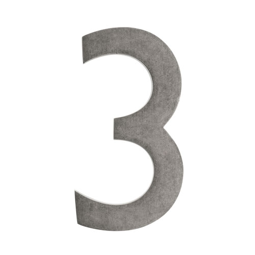 Architectural Mailboxes Five Inch Antique Pewter Floating House Number 3
