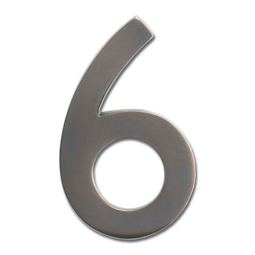 Five Inch Floating House Number Dark Aged Copper 6