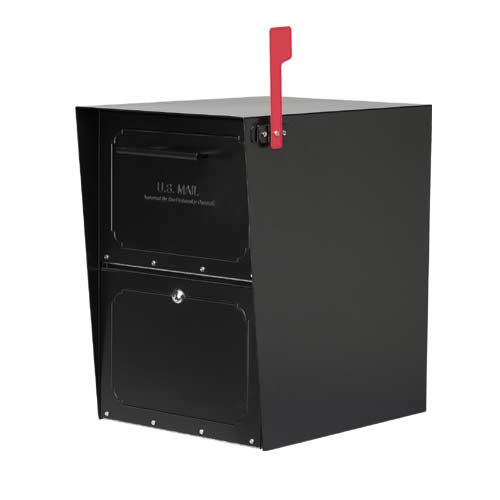 Oasis Powder Coat Black Mailbox