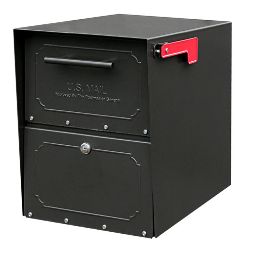 Oasis Jr. Black Post Mount Mailbox