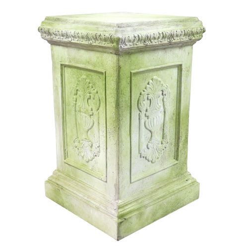 White Moss Fiberstone Grif Pedestal