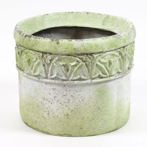 White Moss Fiberstone Trinity Pot